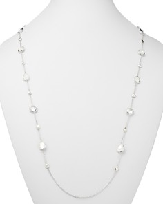 """IPPOLITA - Rock Candy Flirt Mother-of-Pearl, Clear Quartz & White Moonstone Station Necklace, 42"""""""
