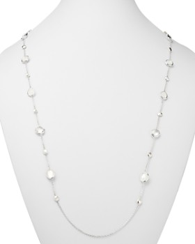 IPPOLITA - Rock Candy Flirt Mother-of-Pearl, Clear Quartz & White Moonstone Station Necklace, 42""