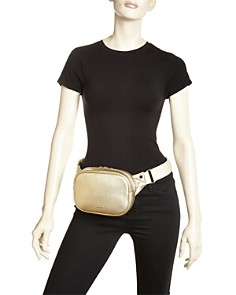 STATE - Crosby Metallic Leather Belt Bag