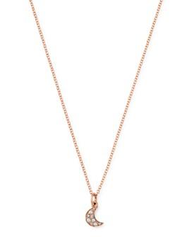 "Dodo - Moon Brown Diamond Pendant Necklace, 15.7"""