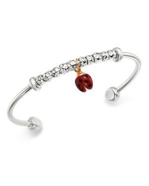 DODO Sterling Silver Ladybug Charm Cuff in Red/Silver