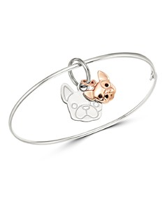 Dodo - Sterling Silver French Bulldog Charm Bangle Bracelet