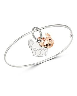 Dodo - Sterling Silver French Bulldog Charm Bangle Bracelet