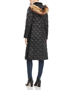 Laundry by Shelli Segal - Diamond-Quilted Maxi Puffer Coat