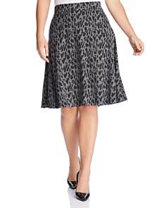 Estelle Plus - Leopard-Print Skirt