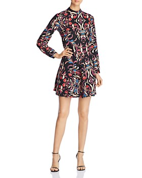 Vero Moda - Gyana Printed Mock-Neck Dress
