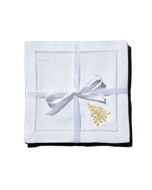 Henry Handwork Mod Tree Cocktail Napkins, Set of 4