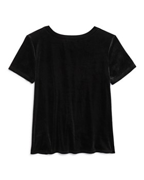 AQUA - Girls' Knot-Front Velvet Tee, Big Kid - 100% Exclusive
