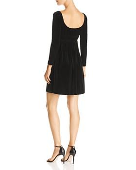 AQUA - Smocked Velvet Dress - 100% Exclusive