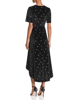 Re:Named - Velvet Star-Print Midi Wrap Dress