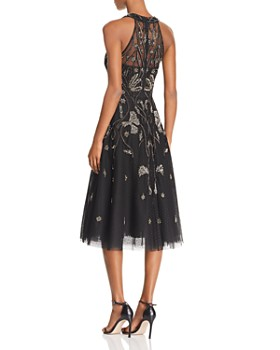Aidan Mattox - Embellished Point D'esprit Dress