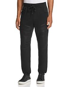 True Religion - Tonal Coated Moto Sweatpants