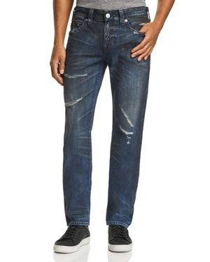 TRUE RELIGION Rocco Slim Fit Jeans In Midnight Storm in Blue