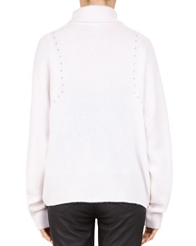 The Kooples - Studded Draped Turtleneck Sweater