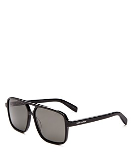 Saint Laurent - Men's Brow Bar Aviator Sunglasses, 59mm