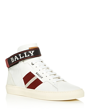 Bally MEN'S HELVIO LEATHER HIGH-TOP SNEAKERS
