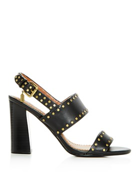 COACH - Women's Rylie Leather Slingback High-Heel Sandals