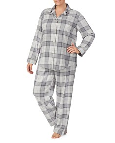 Ralph Lauren - Plus Brushed-Cotton Plaid Pajama Set