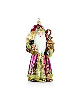 Joy to the World - Goldwasser Santa Ornament