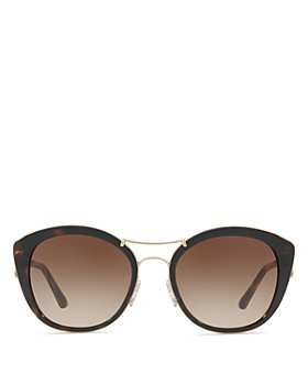 Burberry - Check Round Sunglasses, 53mm