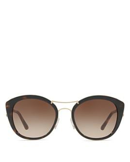 Burberry - Check Round Sunglasses, 53mm