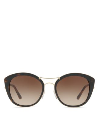 Check Round Sunglasses, 53mm by Burberry