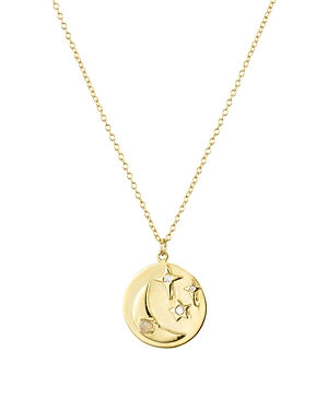 Argento Vivo Moon & Star Pendant Necklace in 18K Gold-Plated Sterling Silver, 20