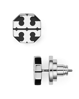 Tory Burch - T-Stretch Logo Stud Earrings