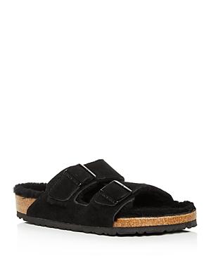 Birkenstock Men\\\'s Arizona Suede & Shearling Slide Sandals