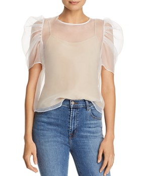 Amanda Uprichard - Smith Puff Sleeve Top