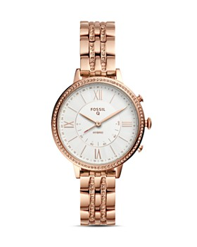 Fossil - Jacqueline Rose Gold-Tone Hybrid Smartwatch, 36mm