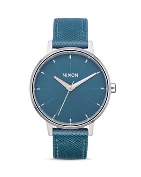 Nixon - Kensington Turquoise Blue Leather Watch, 37mm
