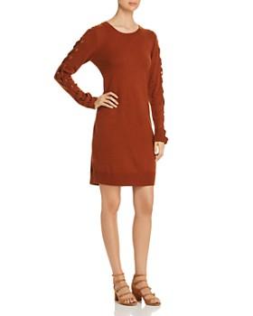 Love Scarlett - Lace-Up Sleeve Sweater Dress