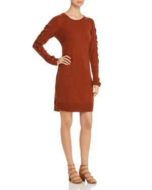 Love Scarlett Lace-Up Sleeve Sweater Dress