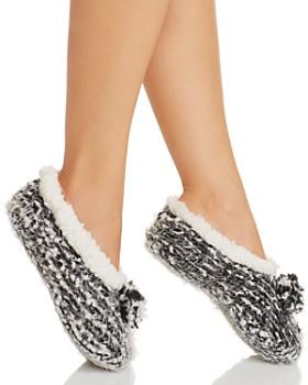 Cejoli - Frosted Pom-Pom Slippers