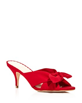 Loeffler Randall - Women's Luisa Knotted Bow Kitten Heel Sandals