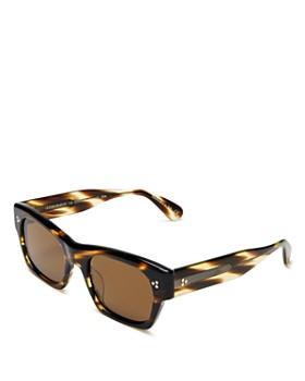 Oliver Peoples - Women's Isba Polarized Rectangular Sunglasses, 51mm