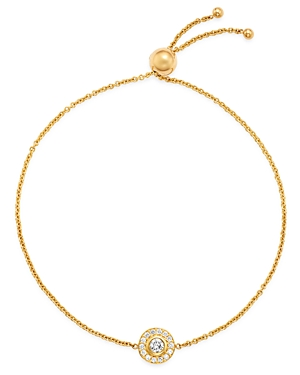 Zoe Chicco 14K Yellow Gold Diamond Disc Bolo Bracelet