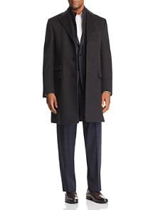 Corneliani - Wool Topcoat w/ Zip-Out Bib