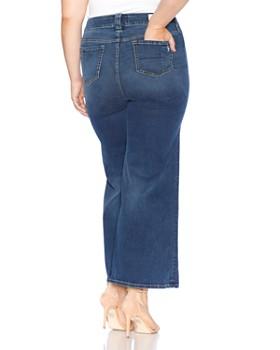 SLINK Jeans Plus - Wide-Leg Jeans in Heather
