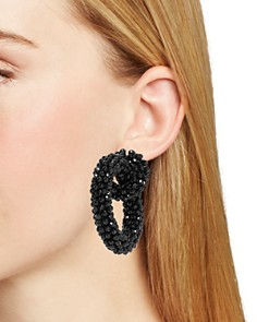 BAUBLEBAR - Beaded Link Hoop Earrings