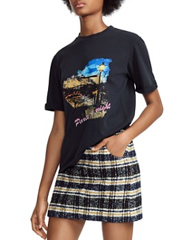 Maje - Tara Paris By Night Graphic Tee