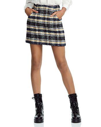 Maje - Jolica Plaid Skirt