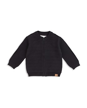 Miles Baby - Boys' Textured Knit Bomber Jacket - Baby