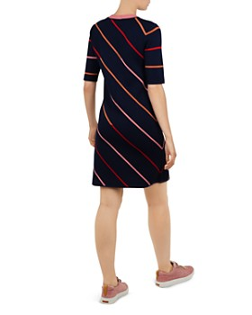 Ted Baker - Colour by Numbers Pelinor Striped Knit Dress