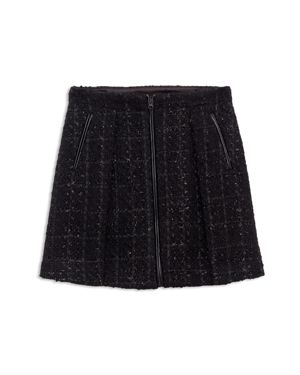 Bardot Junior Girls' Jet Tweed Moto Skirt - Big Kid