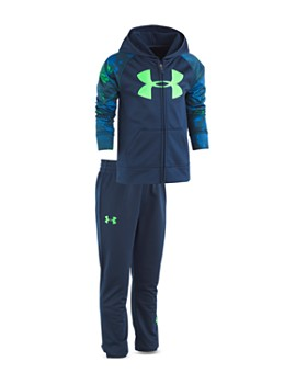 Under Armour - Boys' Bedrock Camo-Print Track Jacket & Pants Set - Little Kid
