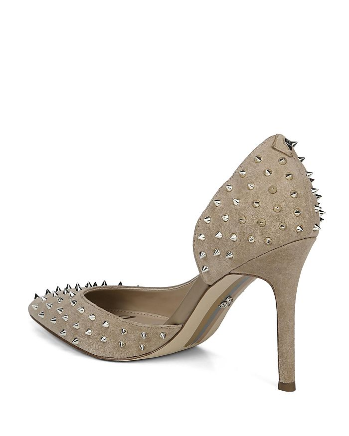 07c61a19cd Sam Edelman Women's Hadlee Pointed Toe Studded Pumps | Bloomingdale's
