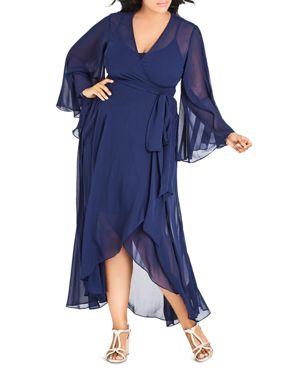 City Chic Plus Fleetwood Wrap Maxi Dress