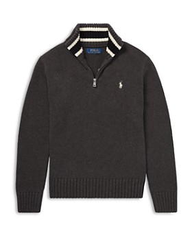 Ralph Lauren - Boys' Cotton Quarter-Zip Sweater - Big Kid